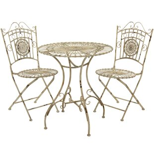 Oriental Furniture 3 Piece Bistro Set