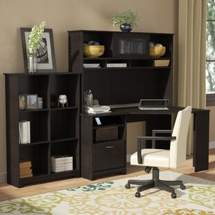 Hillsdale Corner Desk With Hutch And Bookcase by Red Barrel Studio Best Choices