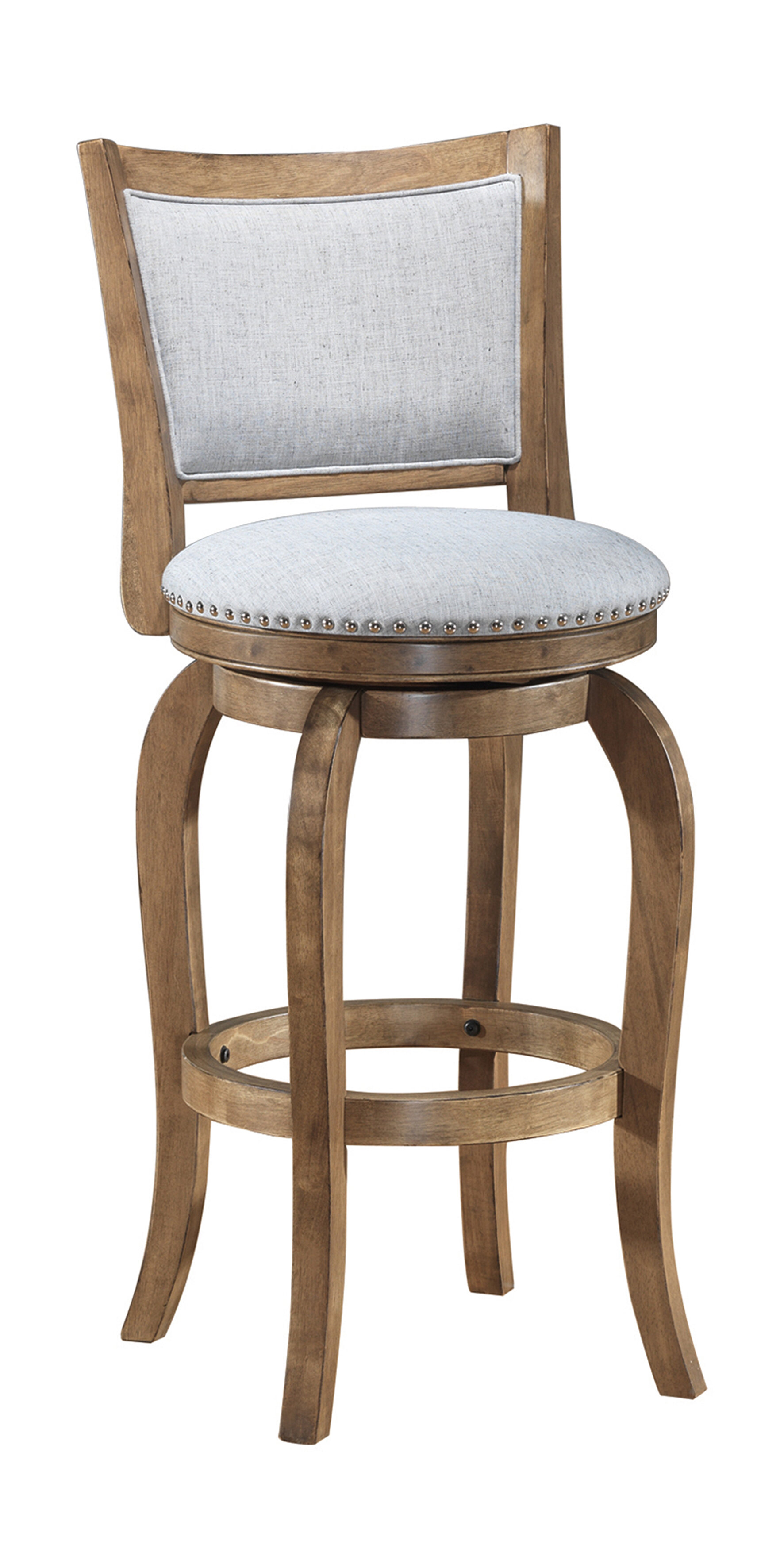 Picture of: One Allium Way Prevost Wooden Swivel Bar Counter Stool Reviews
