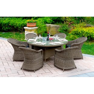 One Allium Way Filippo 7 Piece Dining Set with Cushions