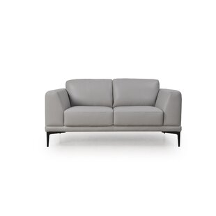 Joachim Leather Loveseat by Orren Ellis Herry Up