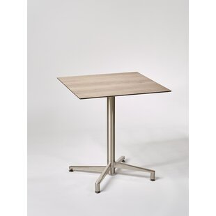 Valentine Folding Stainless Steel Bistro Table By Metro Lane