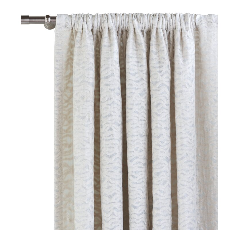 Eastern Accents Aster Solid Color Semi Sheer Rod Pocket Single Curtain Panel Perigold