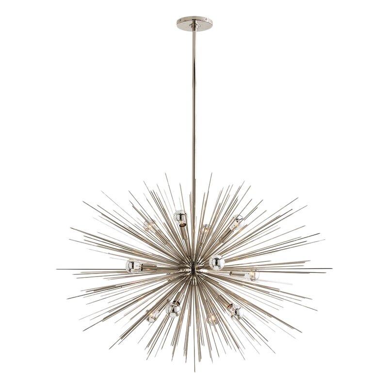 Zanadoo Gold 12-Light Sputnik Chandelier  sc 1 st  Wayfair & ARTERIORS Home Zanadoo Gold 12-Light Sputnik Chandelier u0026 Reviews ... azcodes.com