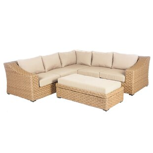 St. Johns 6 Piece Sunbrella Sectional Set with Cushions