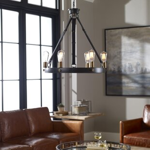 Clyde 6-Light Wagon Wheel Chandelier by Trent Austin Design