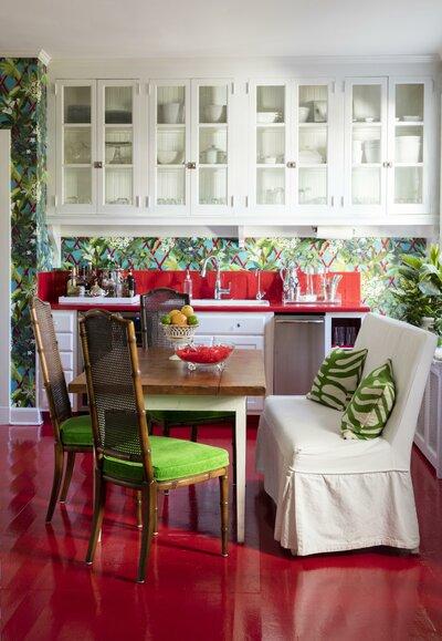 Eclectic Kitchen Design Photo by Gretchen Bond Interior Design