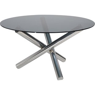 Camron Contemporary Glass Top Dining Table by Orren Ellis