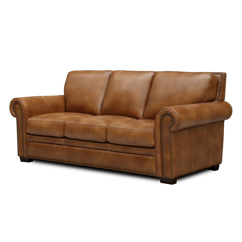 Millwood Pines Londyn Leather Sofa