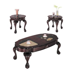 Astoria Grand Bryton 3 Piece Coffee Table Set