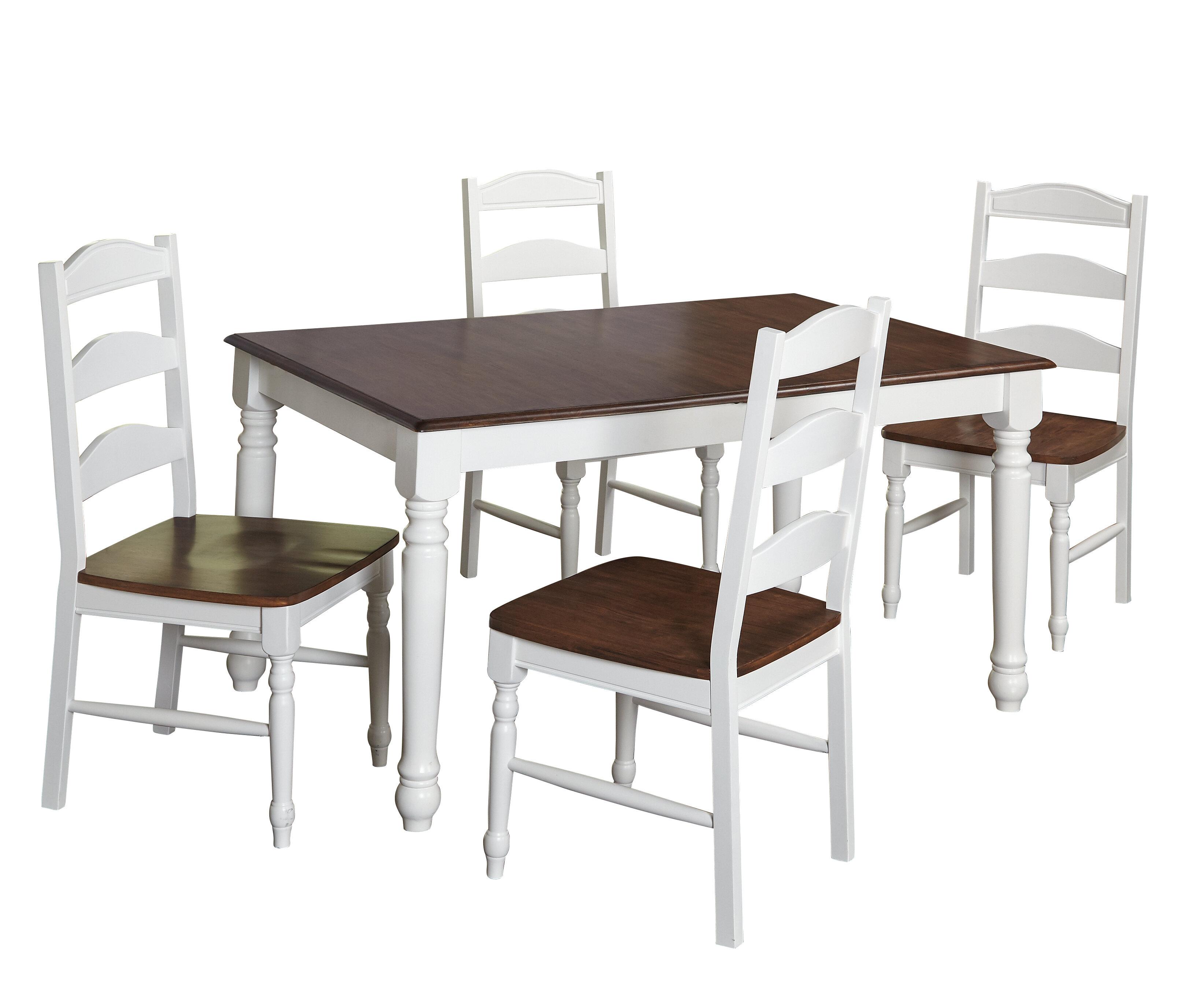August Grove Fleurance 5 Piece Dining Set Reviews Wayfair