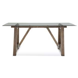 Ouareau Adjustable Leg Dining Table Union Rustic