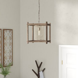 Mcgee Brass 1-Light Square/Rectangle Pendant by Union Rustic
