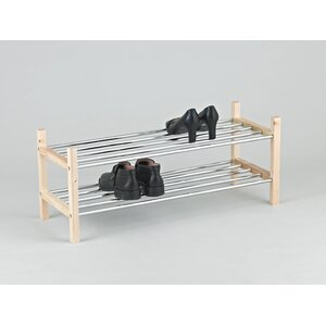 Stackable 2 Tier Shoe Rack