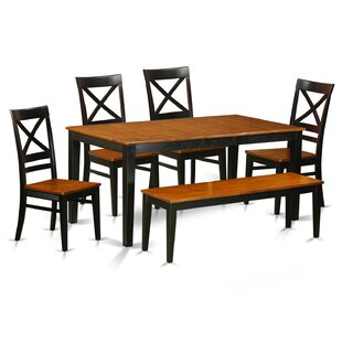 Pillar 6 Piece Dining Set by August Grove