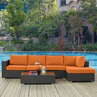 Brayden Studio Tripp 5 Piece Sunbrella Sectional Set with Cushions
