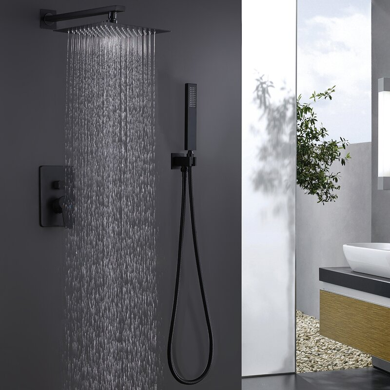 Rbrohant Pressure Balanced Complete Shower System With Rough In Valve Reviews Wayfair