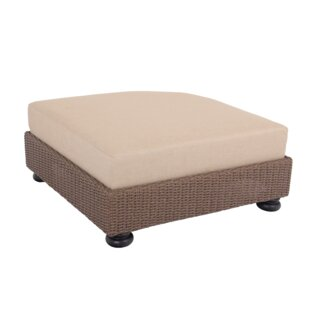 Pacific Shoreline D-Shaped Outdoor Ottoman with Cushion