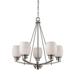 Ebern Designs Adalyn 5 Light Shaded Chandelier