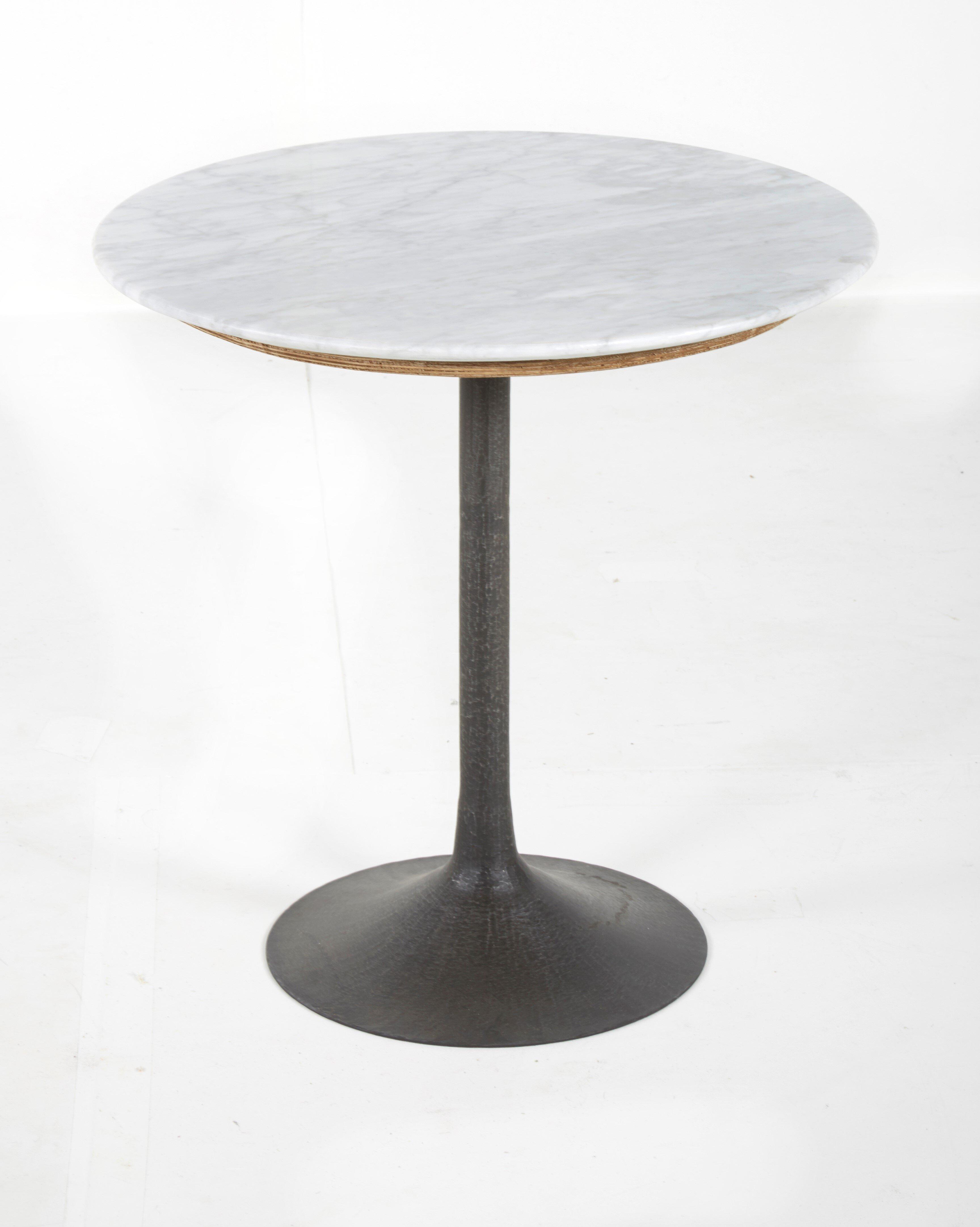 17 Stories Vanwormer Marble Top Pedestal End Table Wayfair