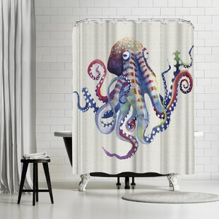 East Urban Home Sam Nagel Octopus Natural Shower Curtain