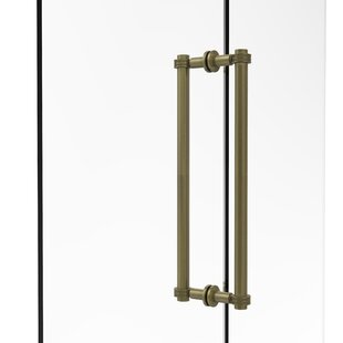 Contemporary 18 Back to Back Shower Door Pull with Dotted Accent by Allied Brass