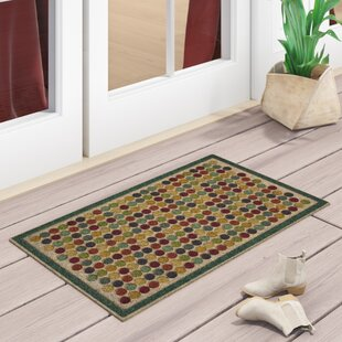 Filemyr Colorful Dots Bright Ornamental Entry Door Mat