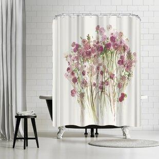 East Urban Home PI Creative Art Pink Spring Garden Shower Curtain