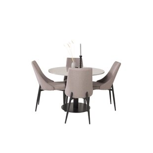 Buy Sale Price Mabel Dining Set With 4 Chairs