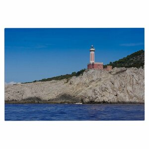 'Happy Lighthouse' Coastal Decorative Doormat