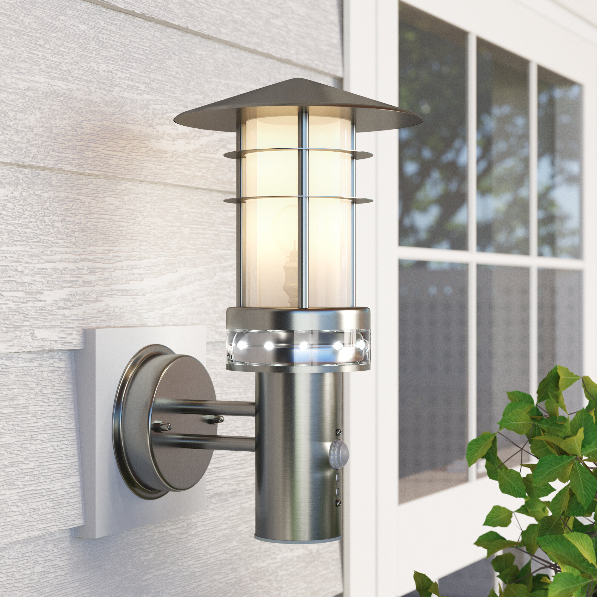 Light Outdoor Sconce With Motion Sensor