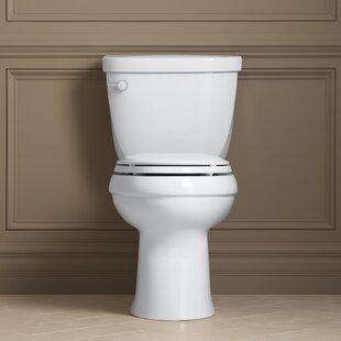 Kohler Cimarron Comfort Height Two-Piece Elongated 1.28 GPF Toilet with Aq..