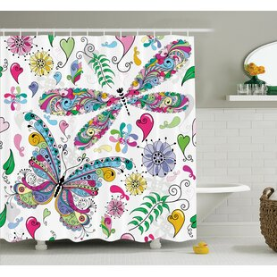 Lottie Paisley Dragonfly Shower Curtain