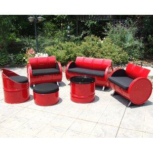 Drum Works Furniture Loft 6 Piece Sunbrella Sofa Set with Cushions