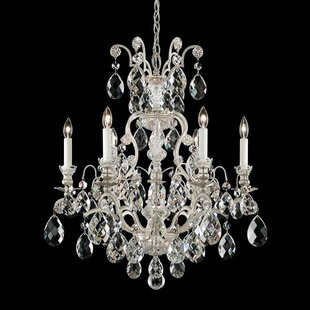 Renaissance 6-Light Candle Style Chandelier by Schonbek