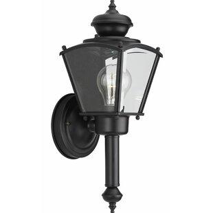 Alcott Hill Triplehorn 1-Light Black Sconce
