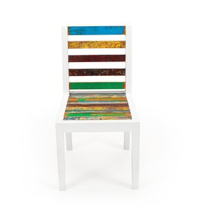 EcoChic Lifestyles Even Keel Solid Wood Patio Dining Chair