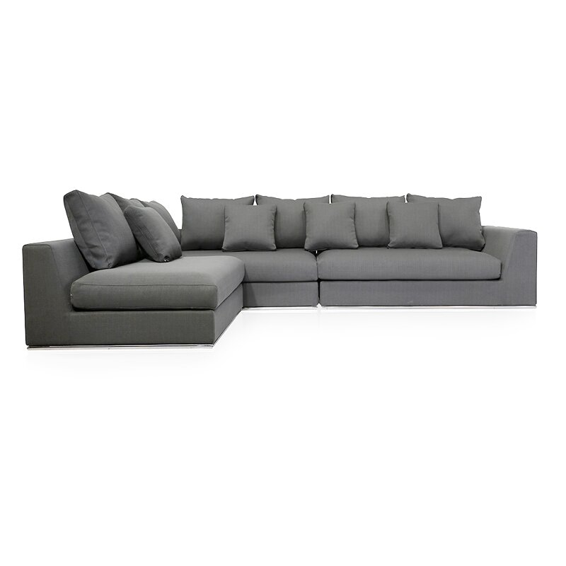 Sather Living Reversible Sectional  sc 1 st  AllModern : modern sectional with recliner - Sectionals, Sofas & Couches
