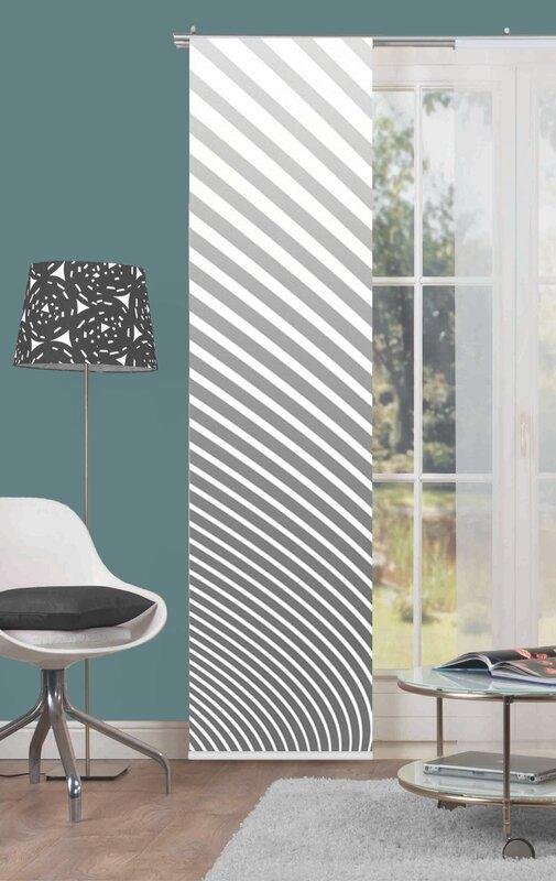 home wohnideen 3 tlg schiebegardinen set stripe blickdicht bewertungen. Black Bedroom Furniture Sets. Home Design Ideas