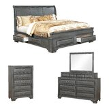 Perera Sleigh Configurable Bedroom Set by Charlton Home