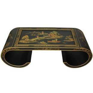Oriental Furniture Oriental Scroll Coffee Table