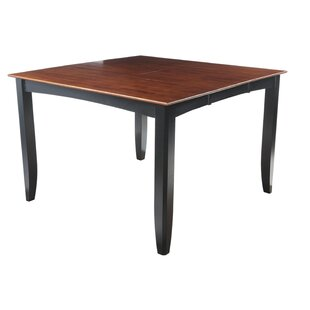 Palm Springs Counter Height Solid Wood Dining Table by Loon Peak Modern