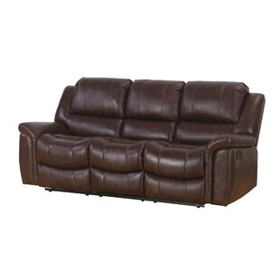 Blackmoor Leather Reclining Sofa by Darby Home Co
