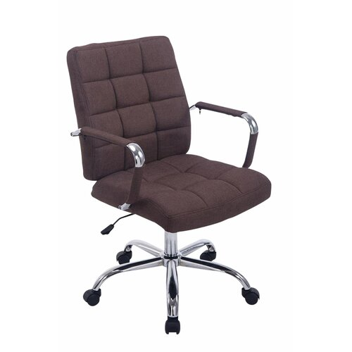 Bürostuhl Hugh | Büro > Bürostühle und Sessel  > Bürostühle | Braun | Metall - Polyester | 17 Stories