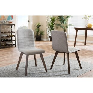 Upholstered Dining Chair in Dark Gray Set of 2 by Wholesale Interiors