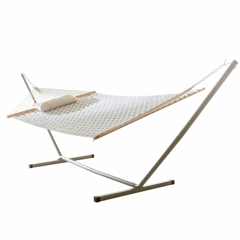 Sol 72 Outdoor  Amaryllis Quilted Tree Hammock with Stand Color: Chevron