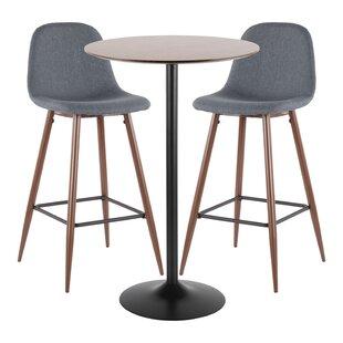 Blaisdell 3 Piece Pub Table Set by Latitude Run