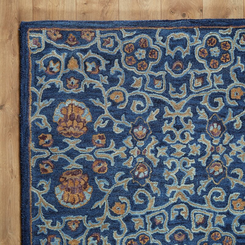Wilshire Greta Hand Tufted Wool Navy Blue Area Rug