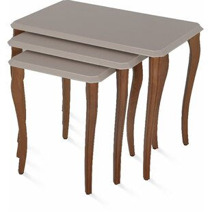 Oswalt Stackable 3 Piece Nesting Tables Canora Grey
