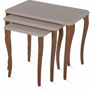 Oswalt Stackable 3 Piece Nesting Tables